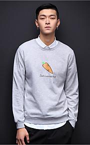 Heren Casual/Dagelijks Sweatshirt Print Ronde hals Micro-elastisch Polyester Lange mouw