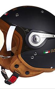 Beon b-110a motorhelft helm harley helm abs anti-mist anti-uv veiligheidshelm unisex mode mat zwart
