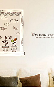 Отдых Наклейки Простые наклейки Декоративные наклейки на стены,Винил материал Украшение дома Наклейка на стену