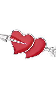 Naisten Rintaneulat Muoti Multi-tapoja Wear Gold Plated Heart Shape Korut Käyttötarkoitus Päivittäin Kausaliteetti
