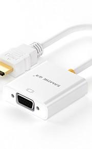 HDMI 2.0 sovitinkaapeli, HDMI 2.0 to VGA sovitinkaapeli Uros - Naaras Kullattu kupari 0.2m (0.65Ft)