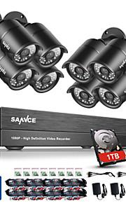 8 Kanal 1080P (1920*1080) 8.0 2.0 Bullet 30 1TB