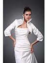 3/4 длины рукава атласной Люкс вечерние куртки / свадьба обертывание болеро пожимают