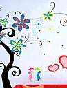 세련된 꽃 벽 스티커 (0732-XM-JJ-014)