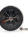 bärbar metal kompass med nyckelring (liten)