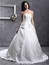 Lanting Bride® A-linje / Prinsesse Timeglas / Pære / Petit / Æble / Omvendt Trekant / Rektangel / Missere / Plus Størrelser Brudekjole -