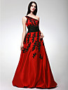 Prom / Formal Evening / Sweet 16 Dress - Plus Size / Petite A-line / Princess One Shoulder Floor-length Satin