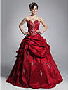 Prom / Formal Evening / Quinceanera / Sweet 16 Dress - Plus Size / Petite Ball Gown Strapless / Sweetheart Floor-length Taffeta