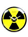 nucleaire signe de verre rayonnement analogique Horloge murale