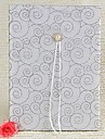 Guest Book Satin Garden ThemeWithFaux Pearl