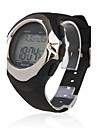 Da uomo Guarda Digitale Orologio sportivo LCD / Calendario / Cronografo / allarme / Monitoraggio frequenza cardiaca Gomma BandaOrologio