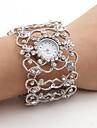 pentru Doamne Ceas La Modă Simulat Diamant Ceas Japoneză Quartz Aliaj Bandă Sclipici Brățară rigidă Argint Argintiu
