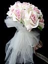 Elegant Satin Round Shape Wedding Bridal Bouquet