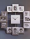 """15.75 """"h cadre photo metal horloge de mur muette"""