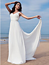 Lanting Bride® Sheath / Column Petite / Plus Sizes Wedding Dress - Classic & Timeless / Chic & Modern / Glamorous & Dramatic Floor-length