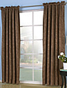 Two Panels Neoclassical Solid Beige / Brown / Purple / Red Bedroom Polyester Panel Curtains Drapes