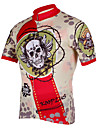 KOOPLUS® Cycling Jersey Men\'s Short Sleeve Bike Breathable / Quick Dry / Front Zipper Jersey / Tops 100% Polyester Skulls Spring / Summer