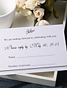 Personalize Wedding Response Cards - Formal & Simple RSVP (Set of 50)