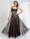 Formal Evening/Military Ball Dress Sheath/Column Straps/Sweetheart Floor-length Tulle