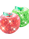 Pussel 3D-pussel / Kristallpussel Byggblock DIY leksaker Apple ABS Silver / Grå Modell- och byggleksak