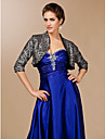 Wedding  Wraps Coats/Jackets 3/4-Length Sleeve Sequined Gray Party/Evening T-shirt Open Front Yes