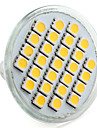 4W E14 / GU10 / GU5.3(MR16) / E26/E27 LED-spotlights MR16 27 SMD 5050 300 lm Varmvit / Naturlig vit V