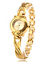 Women's Quartz Analog Golden Alloy Band Bracelet Watch Cool Watches Unique Watches