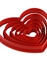 gateau Fondant diy decoration rouge en forme de coeur l\'emporte-piece de biscuit moule (6-pack) jg0053