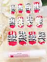 heltäckande röd leopard mönster stil akryl naglar och tips med spik lim