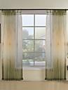 (två paneler) grön botaniska samtida ren gardin