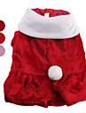 Hundar Kappor Röd / Rosa Hundkläder Vinter Jul