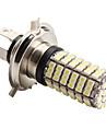 H4 4.2W 126x3528 SMD 6500-7000K lumiere blanche LED ampoule pour les lampes de voiture (12V DC)