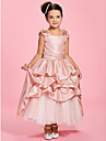 A-line/Princess Ankle-length Flower Girl Dress - Taffeta