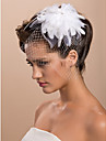 Gorgeous Feather With Rhinestones Big Tulle Wedding Bridal Headpiece