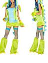 Costumes de Cosplay / Costume de Soiree Animal Fete / Celebration Deguisement Halloween Vert Mosaique Robe / Gants / Jambieres / Chapeau