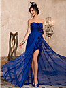 TS Couture® Formal Evening Dress - Royal Blue Plus Sizes / Petite Sheath/Column Sweetheart / Strapless Asymmetrical Chiffon
