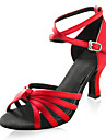 Satin Upper High Heel Dance Shoes Latin shoes Ballroom Practice Shoes for Women More Colors