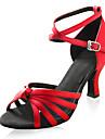 satijn bovenste hoge hak dansschoenen latin ballroom schoenen praktijk schoenen voor vrouwen meer kleuren