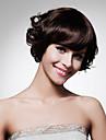 capless lunghezza mento di alta qualita natura sintetica sguardo scuro parrucca castano capelli ricci (0463-lpp490)