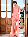 TS Couture Prom / Formal Evening Dress - Watermelon Plus Sizes / Petite Sheath/Column Sweetheart / Strapless Asymmetrical Chiffon