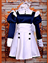 Inspire par Black Butler Mey-Rin Anime Costumes de cosplay Costumes Cosplay / Robes Mosaique Blanc Manche Longues Robe / Bandeau