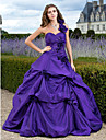 Prom / Formal Evening / Quinceanera / Sweet 16 Dress - Plus Size / Petite A-line / Ball Gown / Princess One Shoulder / Sweetheart