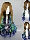 lolita peruk inspirerad av victoria stil brun & cyan blandad färg land