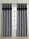 One Pair  Novelty Embroidery Plaids Room Darkening Curtain