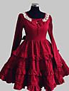 Sweet Lolita One-piece Röd Bomull lolita tillbehör