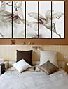Horloge murale scenique moderne dans la toile 5pcs k0106