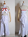 Inspire par Sword Art Online Asuna Yuuki Anime Costumes de cosplay Costumes Cosplay Mosaique Blanc Sans Manches Top / Robe / Brassard