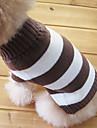 Chat / Chien Pull Marron Vetements pour Chien Hiver Rayure Mode / Garder au chaud