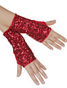 Dance Accessories Stage Props / Dance Glove Women\'s Performance Cotton Sequins Black / Gold / Red / Silver Spring, Fall, Winter, Summer
