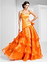 TS Couture® Prom / Formal Evening Dress - Open Back Plus Size / Petite A-line / Princess Strapless / Sweetheart Floor-length Organza withFlower(s)